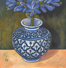 Agapanthus in Thai Vase